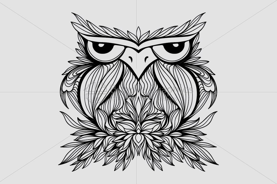 Owl - Creative Bird Graphic example image 2