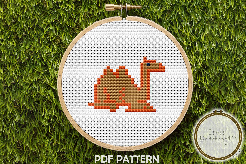 Camel Cross Stitch Pattern PDF example image 1