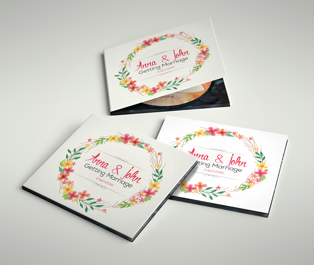 Wedding CD Covers Templates example image 3