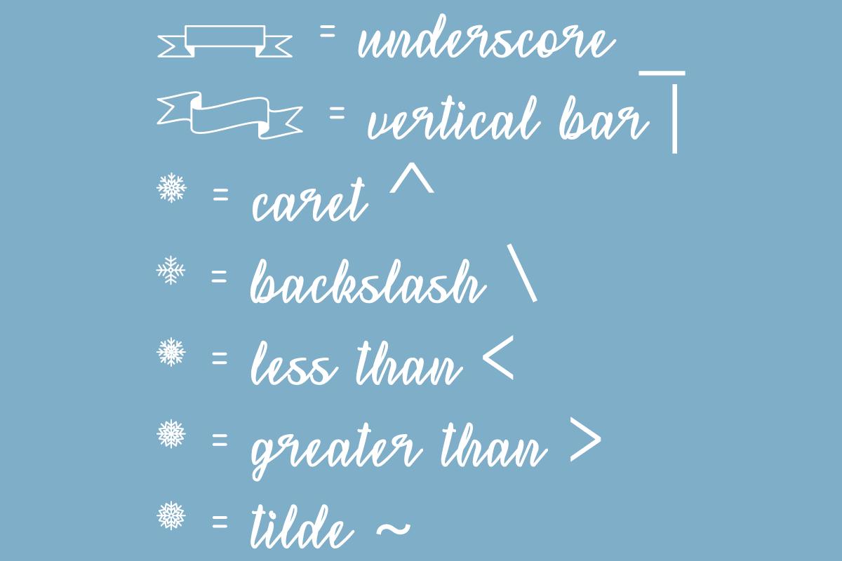 Snowflake Calligraphy example image 2