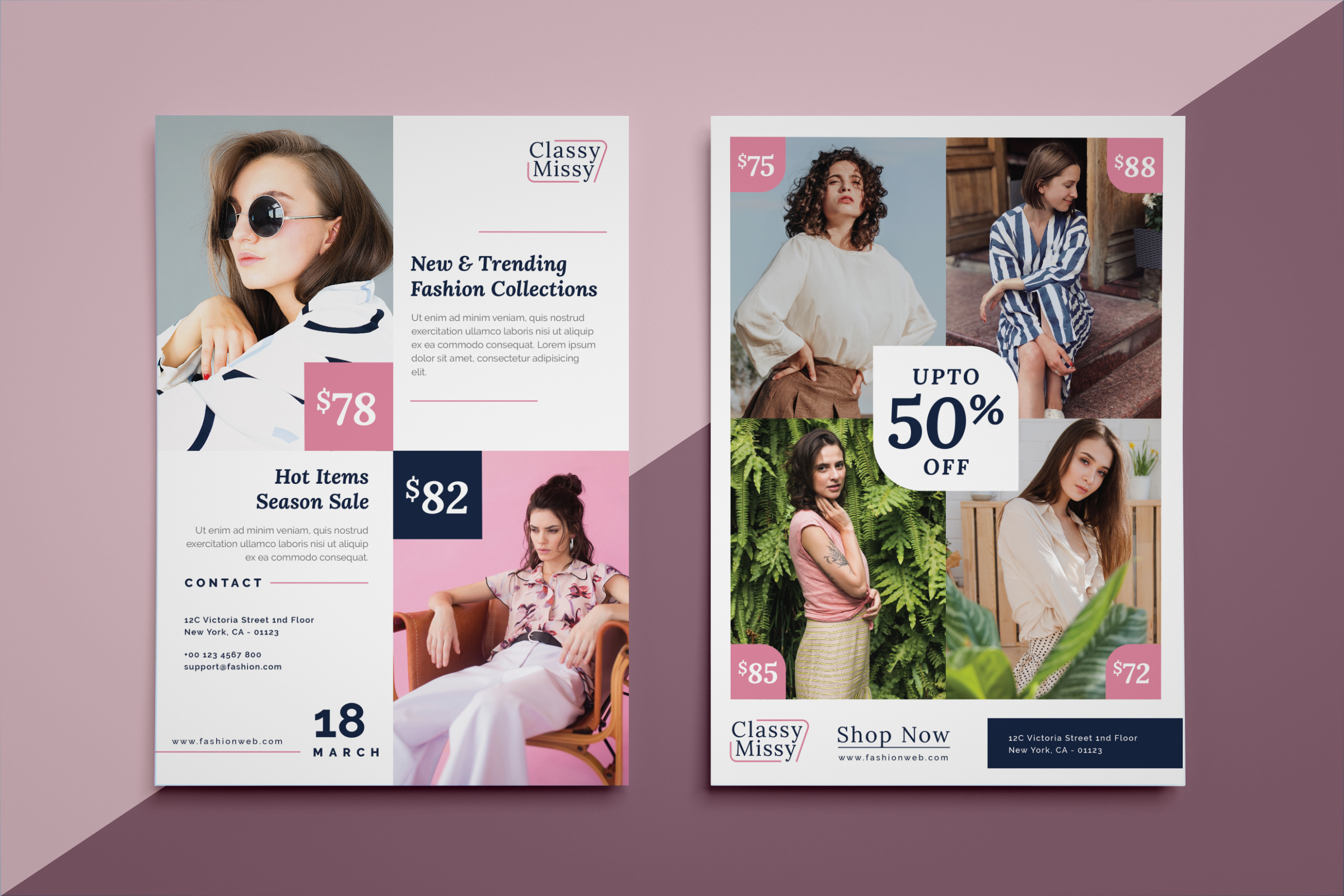Fashion sale flyer example image 1
