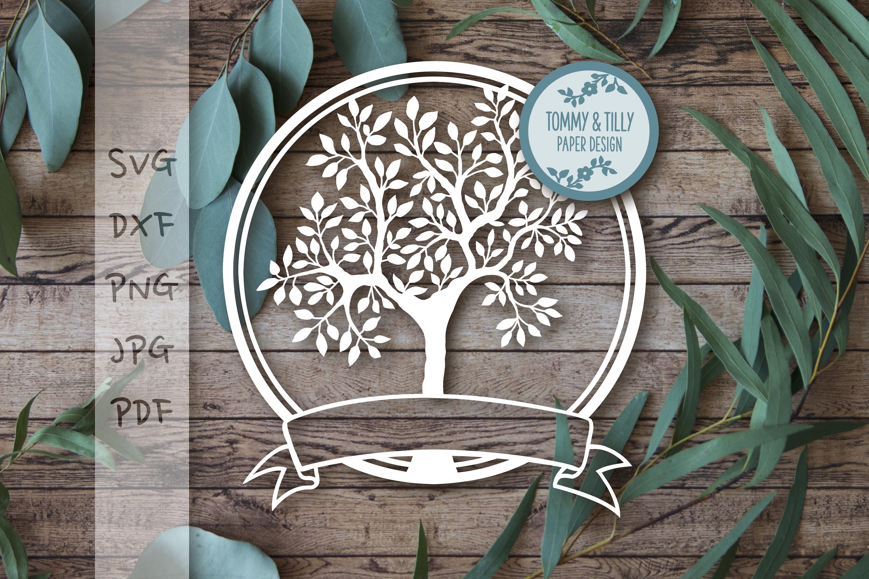 MEGA BUNDLE! Family Tree Cut Files - SVG | Papercut example image 18