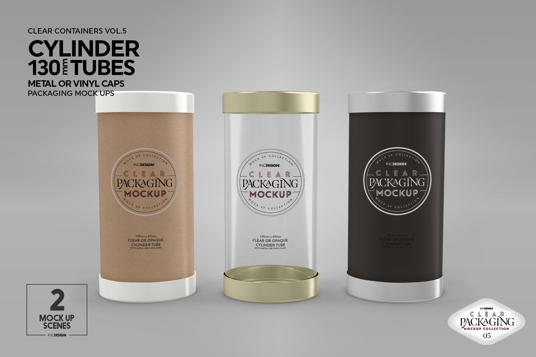 130mm Cylinder Tube Packaging Mockup example image 9