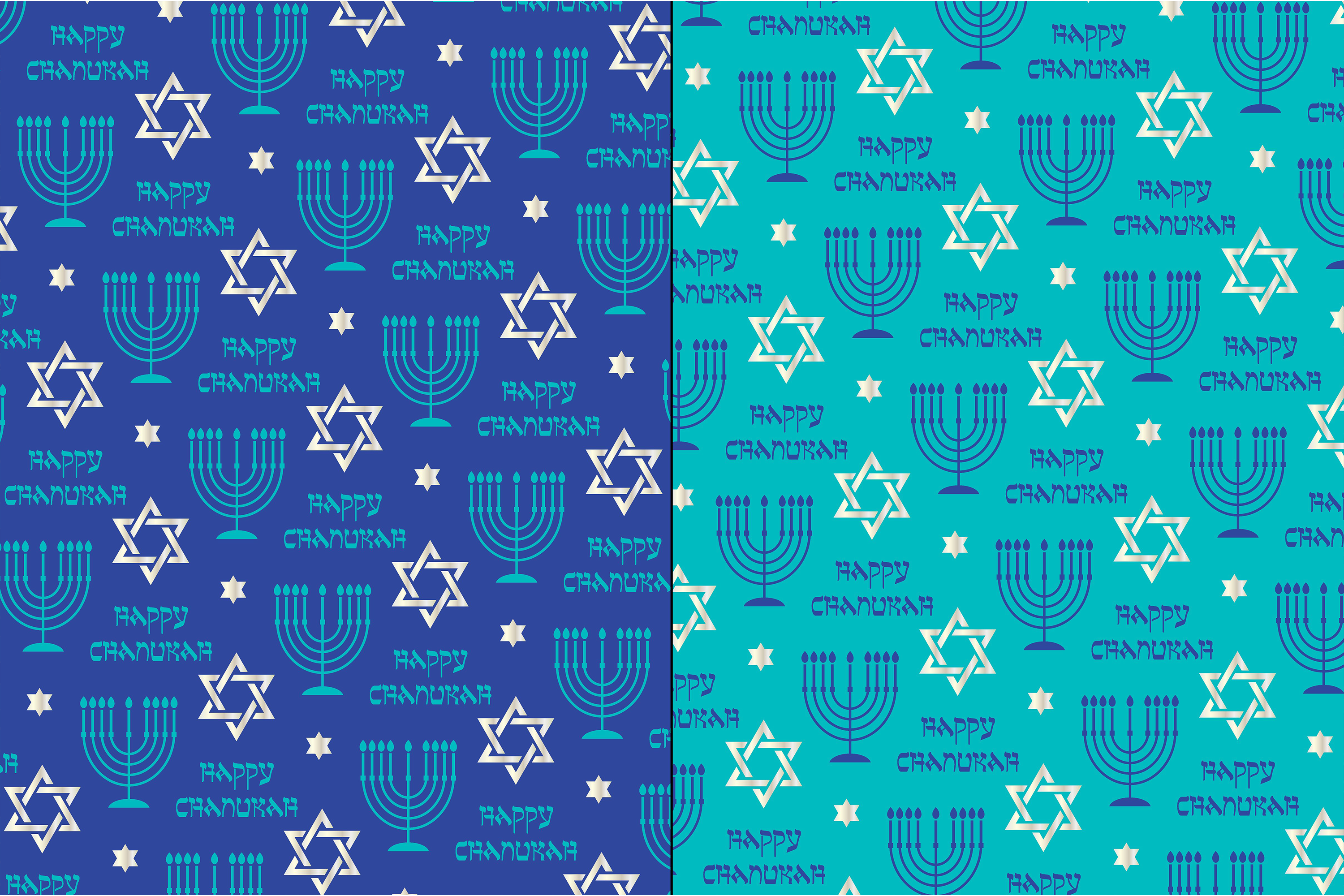 Silver Blue Chanukah Patterns example image 2