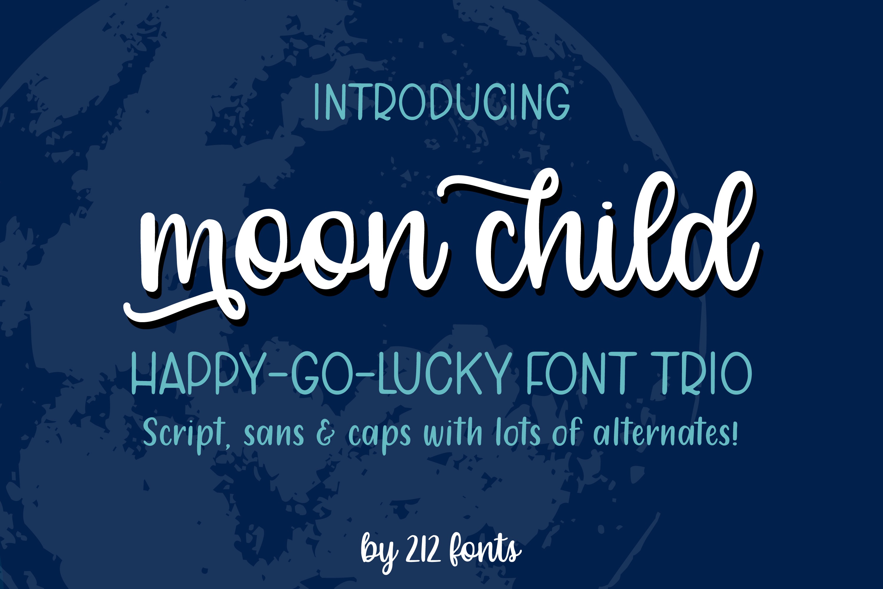 Moon Child Font Trio example image 14