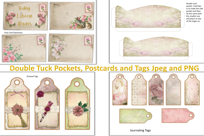 Shabby Chic Vintage Journaling Kit & Free Ephemera & clipart example image 6