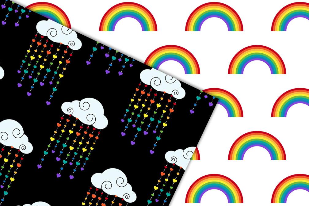 Rainbow Digital Paper example image 2