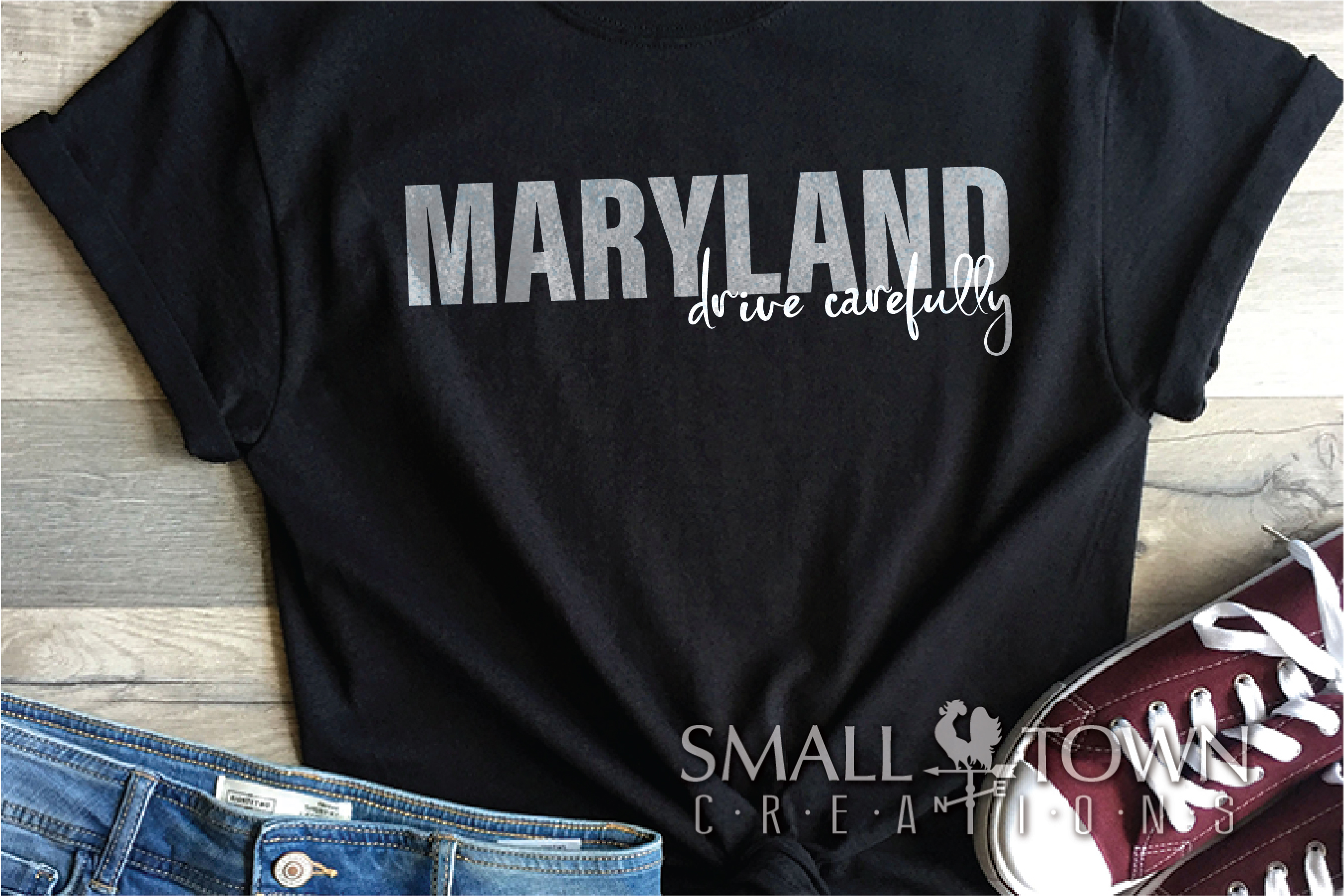 Maryland, Drive Carefully, Logo, PRINT, CUT & DESIG example image 4