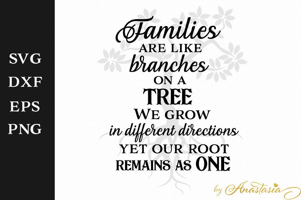 Families Are Like Branches On A Tree Svg Cut File