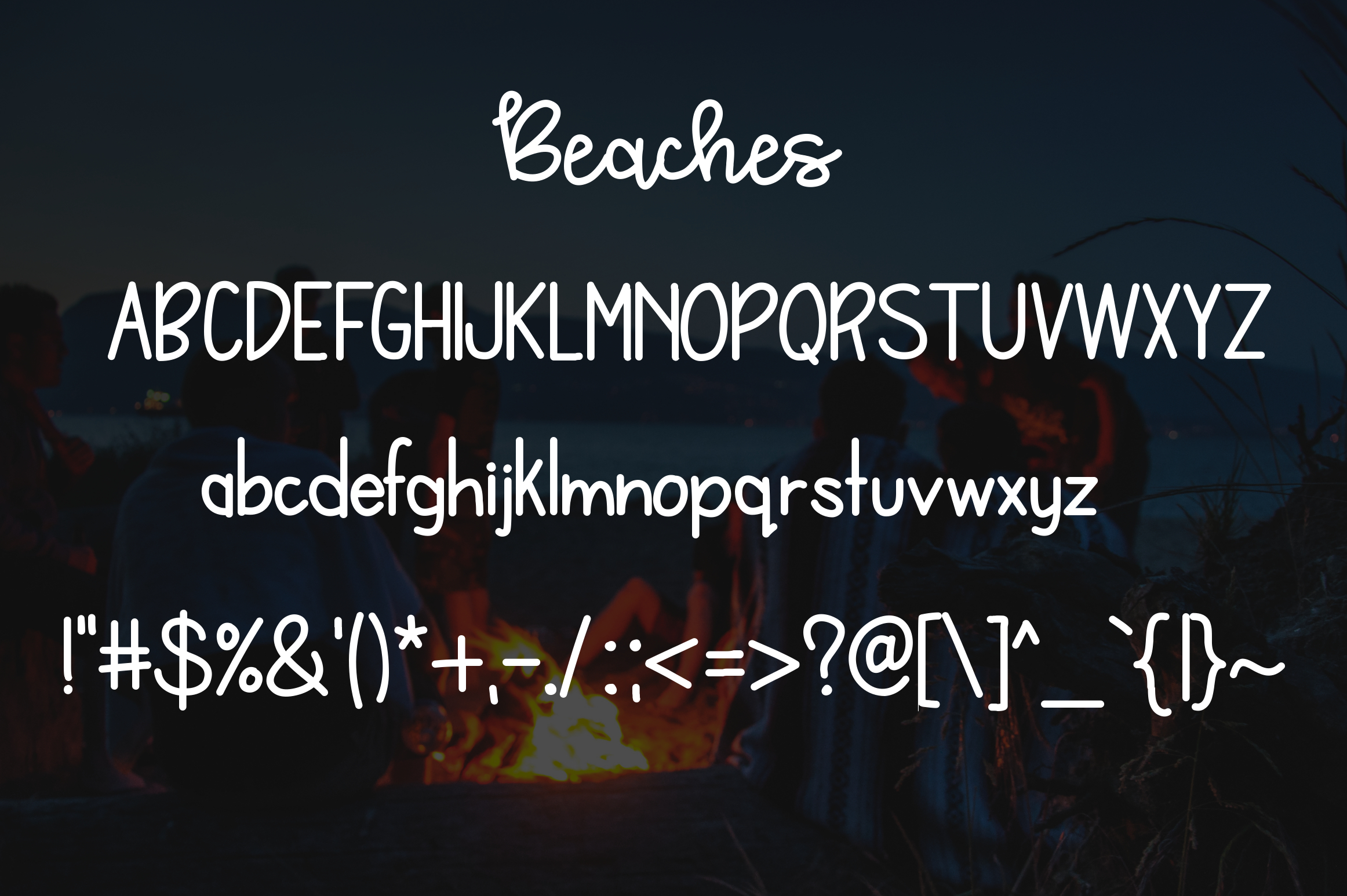 Bonfires & Beaches a Font Duo example image 3