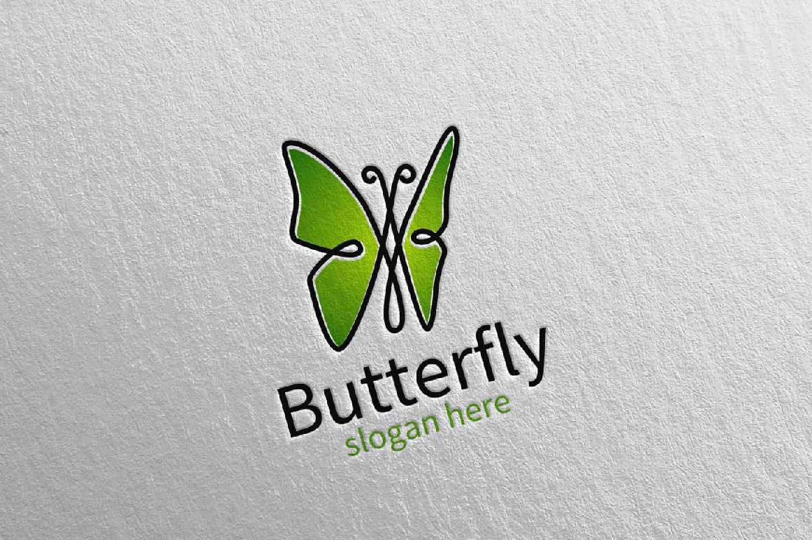 Butterfly Logo vol 16 example image 2