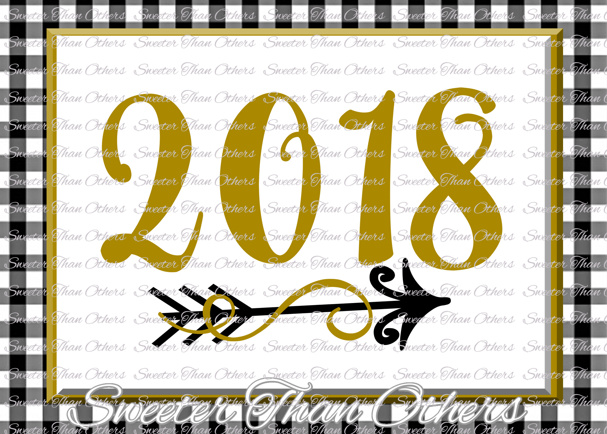 2018 svg, New Year 2018 SVG example image 1