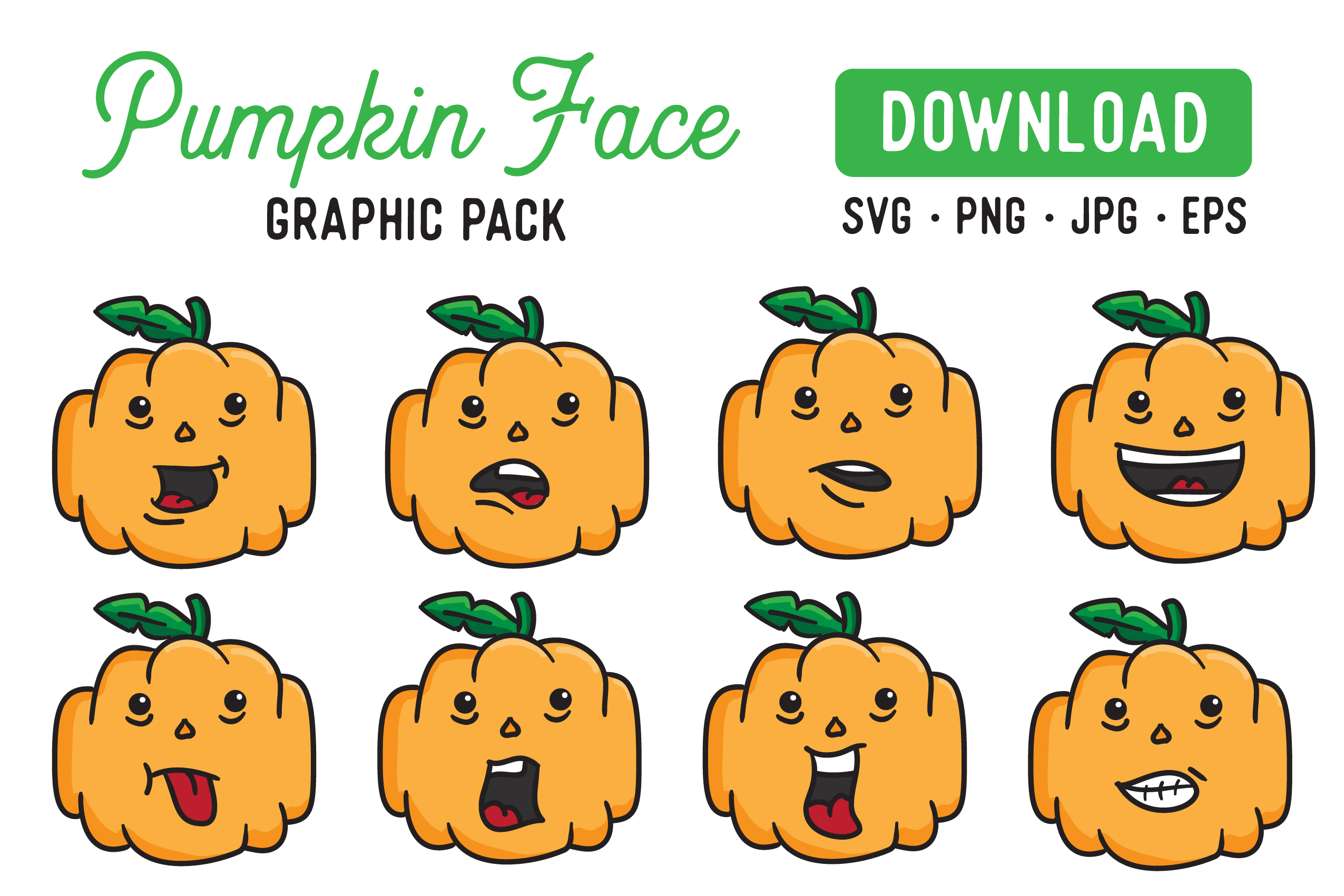 Pumpkin Vector Clipart Pack example image 1