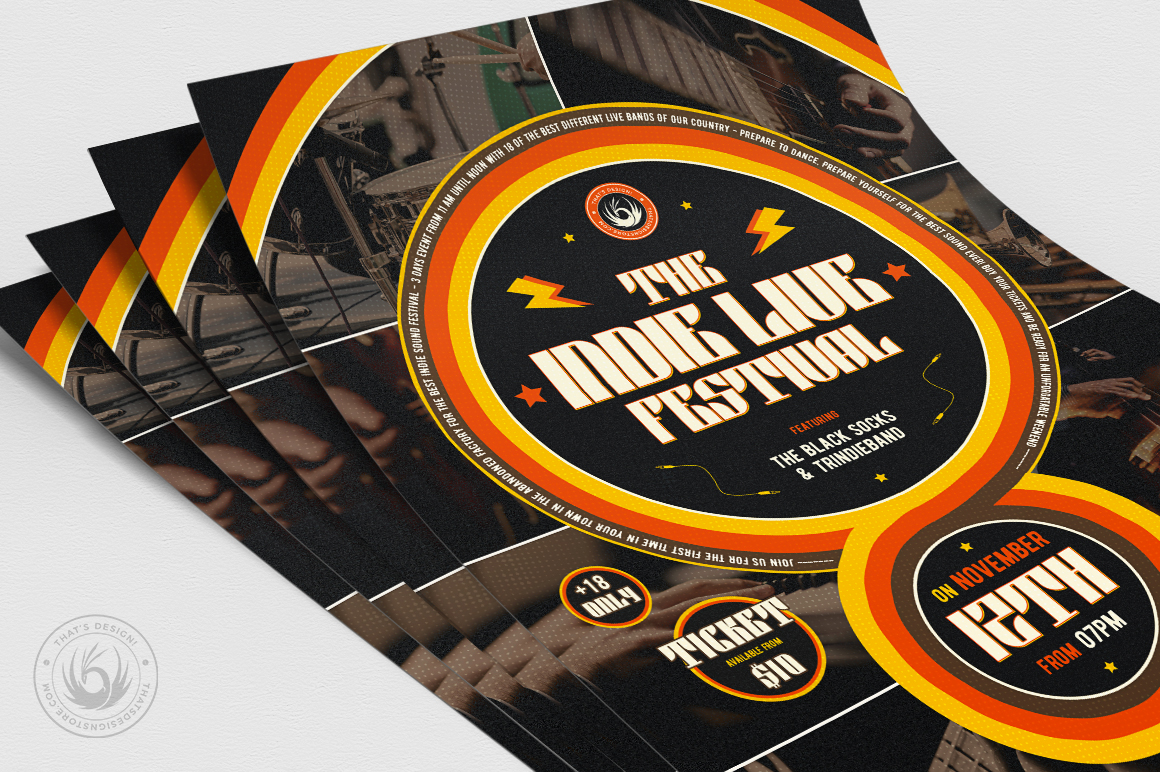 Indie Fest Flyer Template V6 example image 5