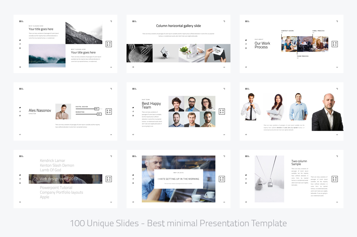 XOXO-Minimal Powerpoint Template example image 6