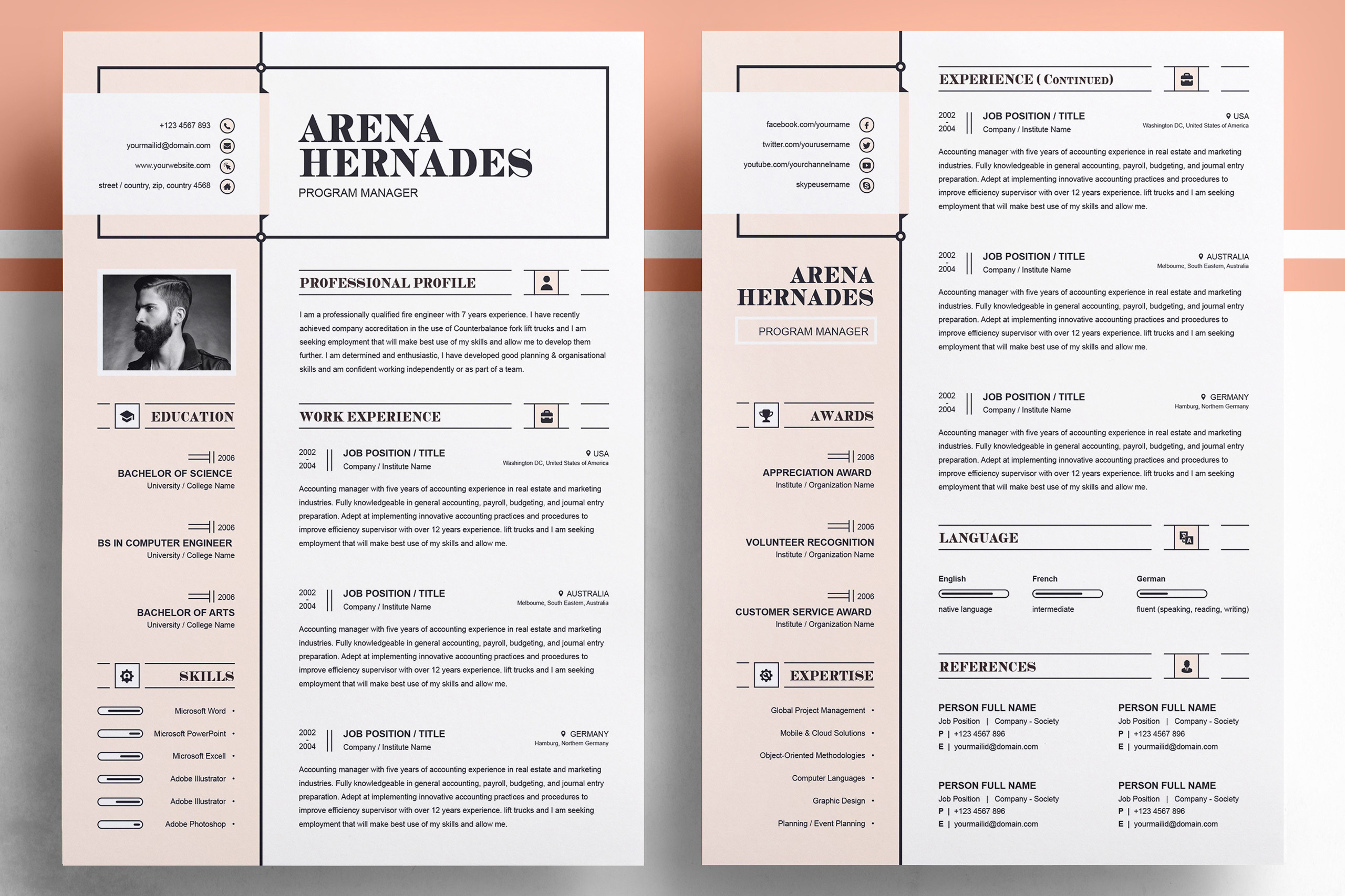 Modern Resume Template example image 2