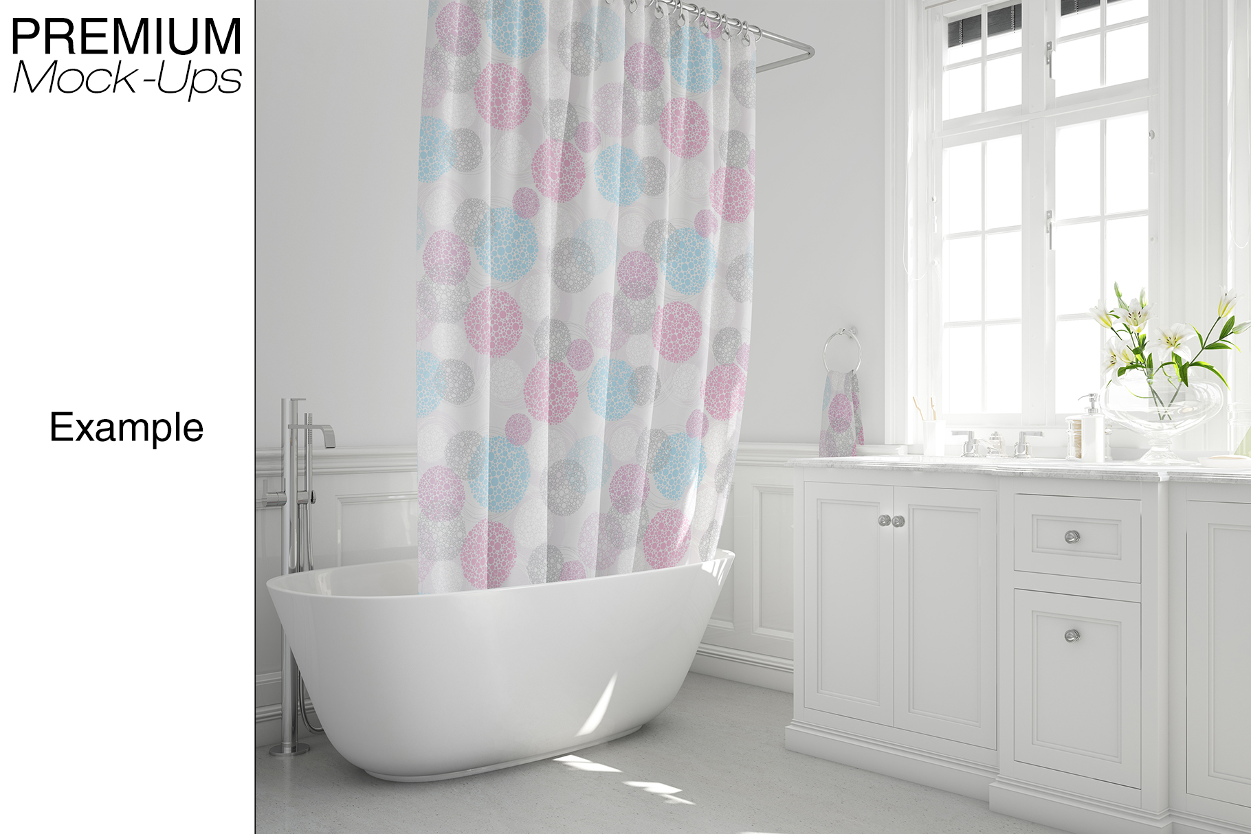 Bath Curtain Mockup Pack example image 11