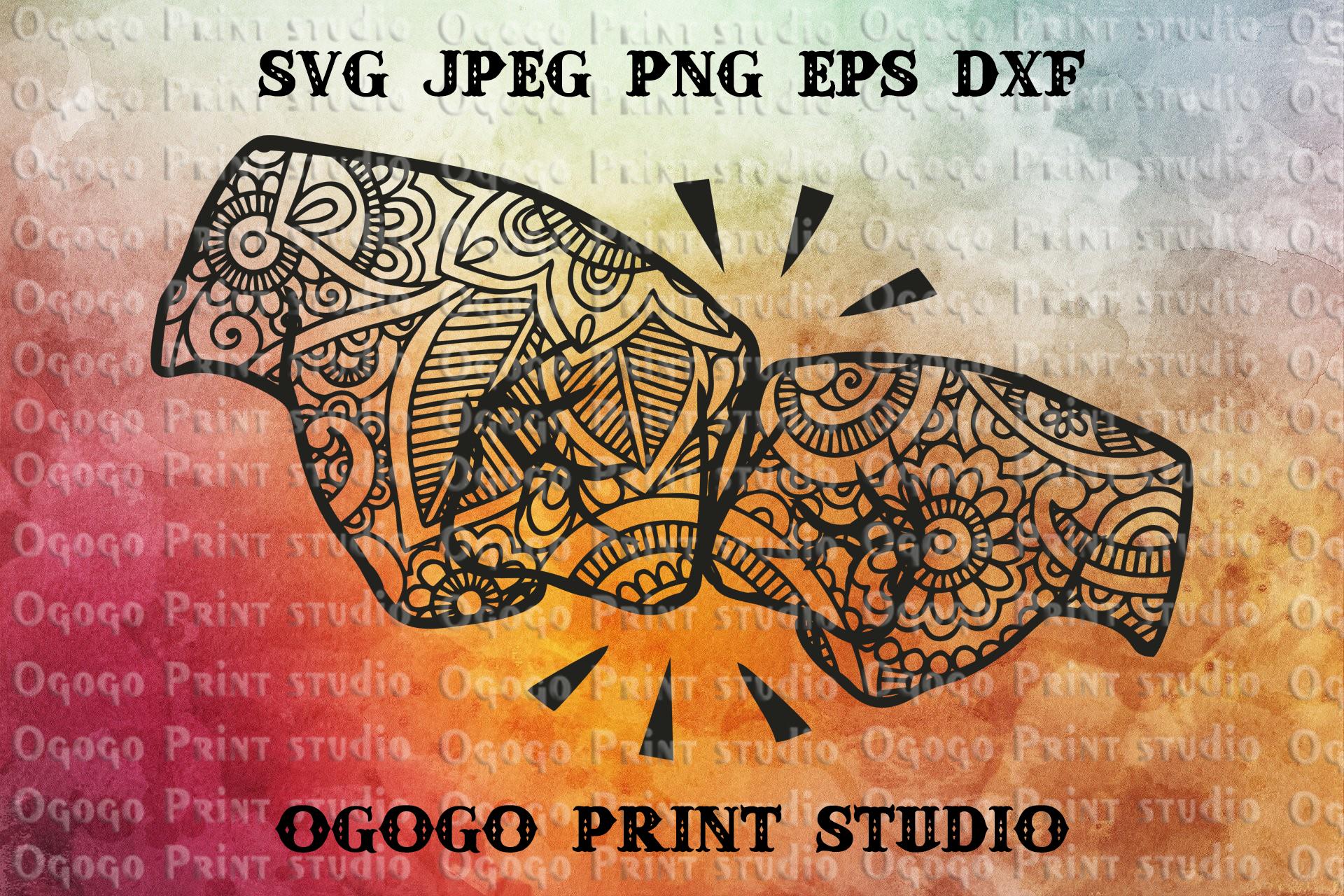 Best Friend Svg, Fist Bump Svg, Zentangle SVG, Mandala svg example image 1