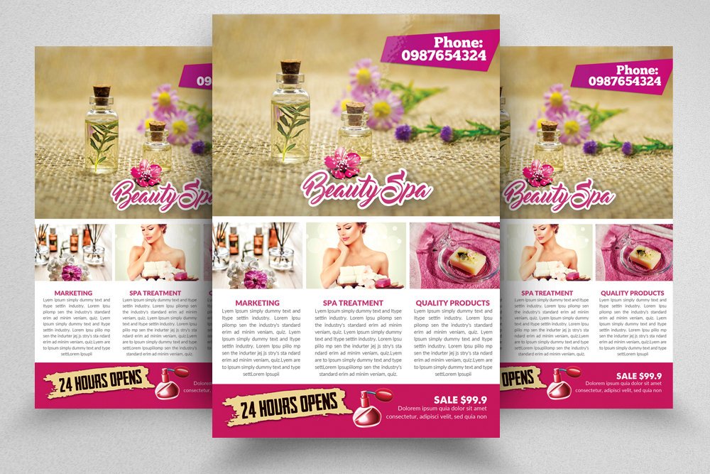 10 Spa & Skin Care Centre Flyer Bundle example image 6