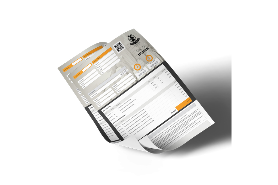 Business A4 Invoice Template example image 2