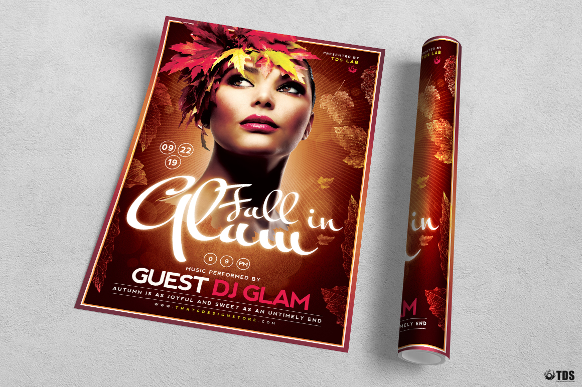 Fall in Glam Flyer Template V5 example image 3