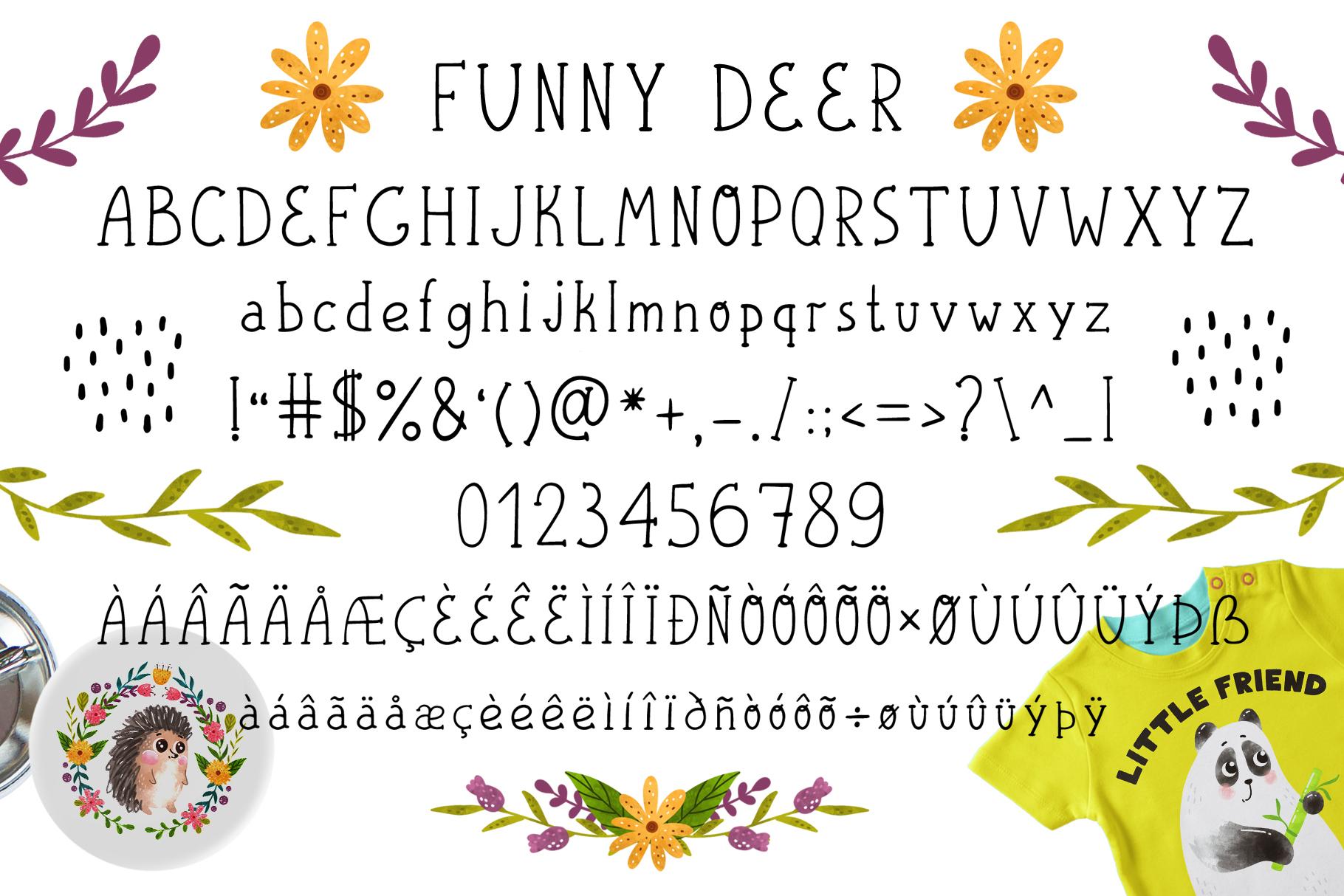 Funnybear & Funnydeer - Duo font example image 5
