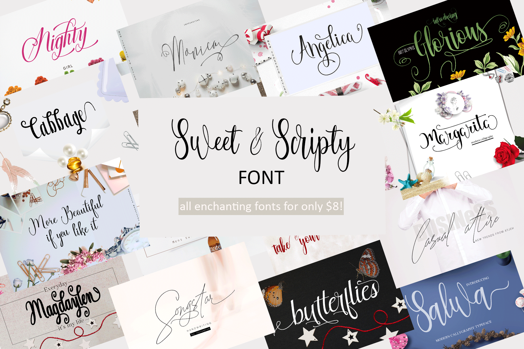 All Sweet & Scripty Fonts-For Only $8! example image 1