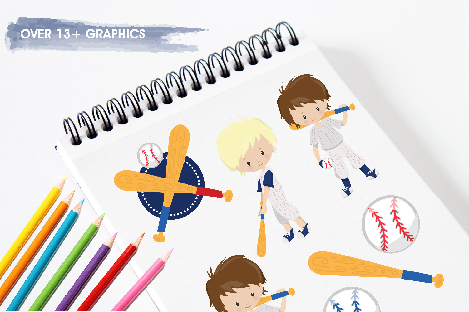 Baseball Cute Graphics example image 3