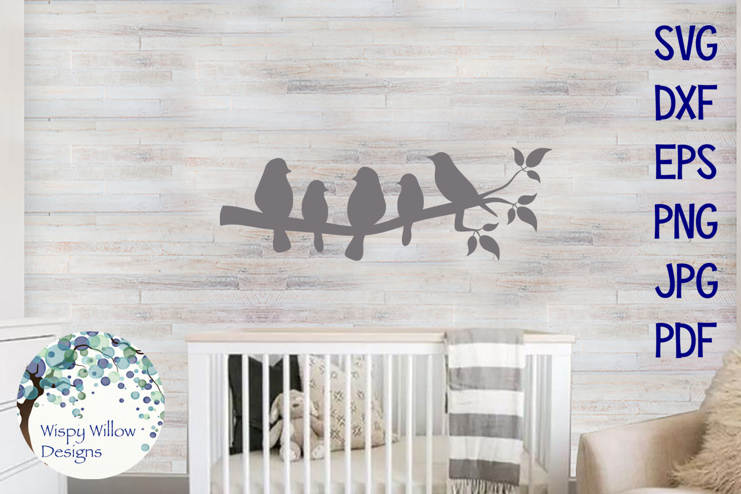 Birds On A Branch SVG Duo example image 2