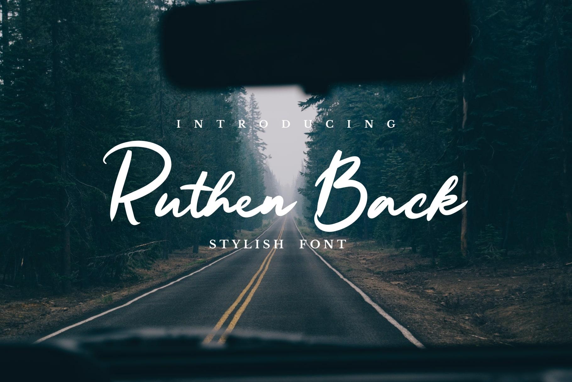 Ruthen Back - Stylish Font example image 1