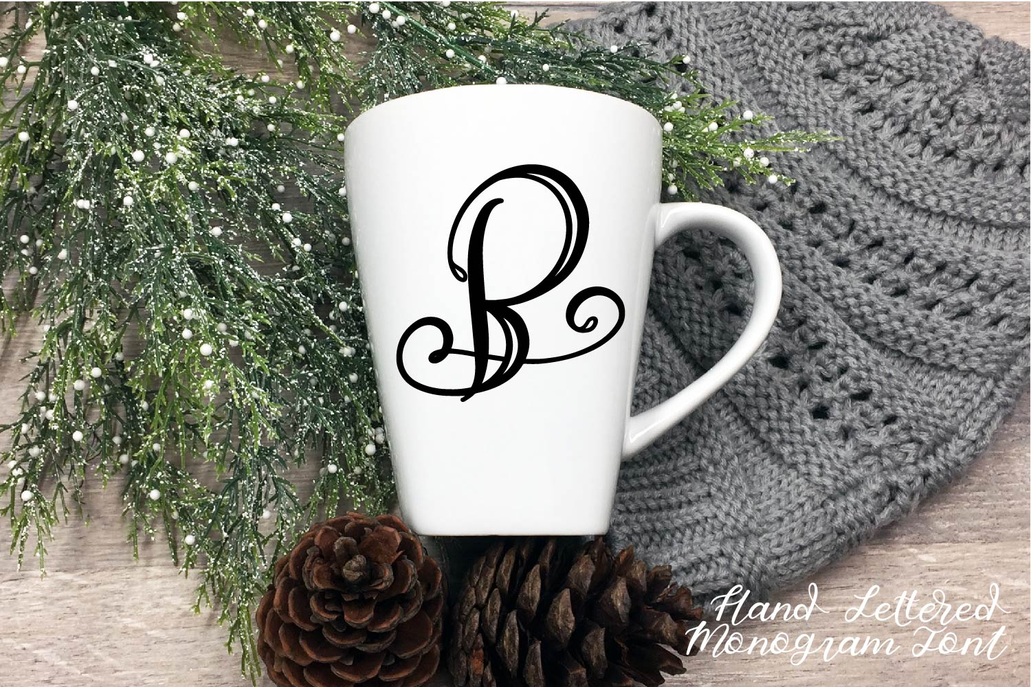 Hand Lettered Monogram Font - Perfect For Personalization! example image 9