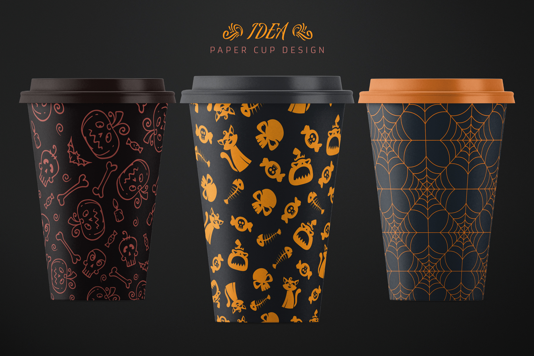 100 Seamless Patterns Vol.3 Halloween example image 22