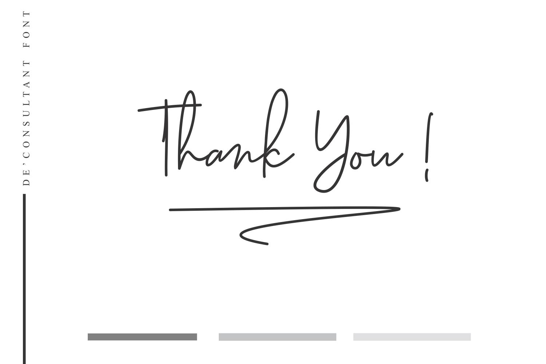 De'Consultant Handwritten Font example image 10