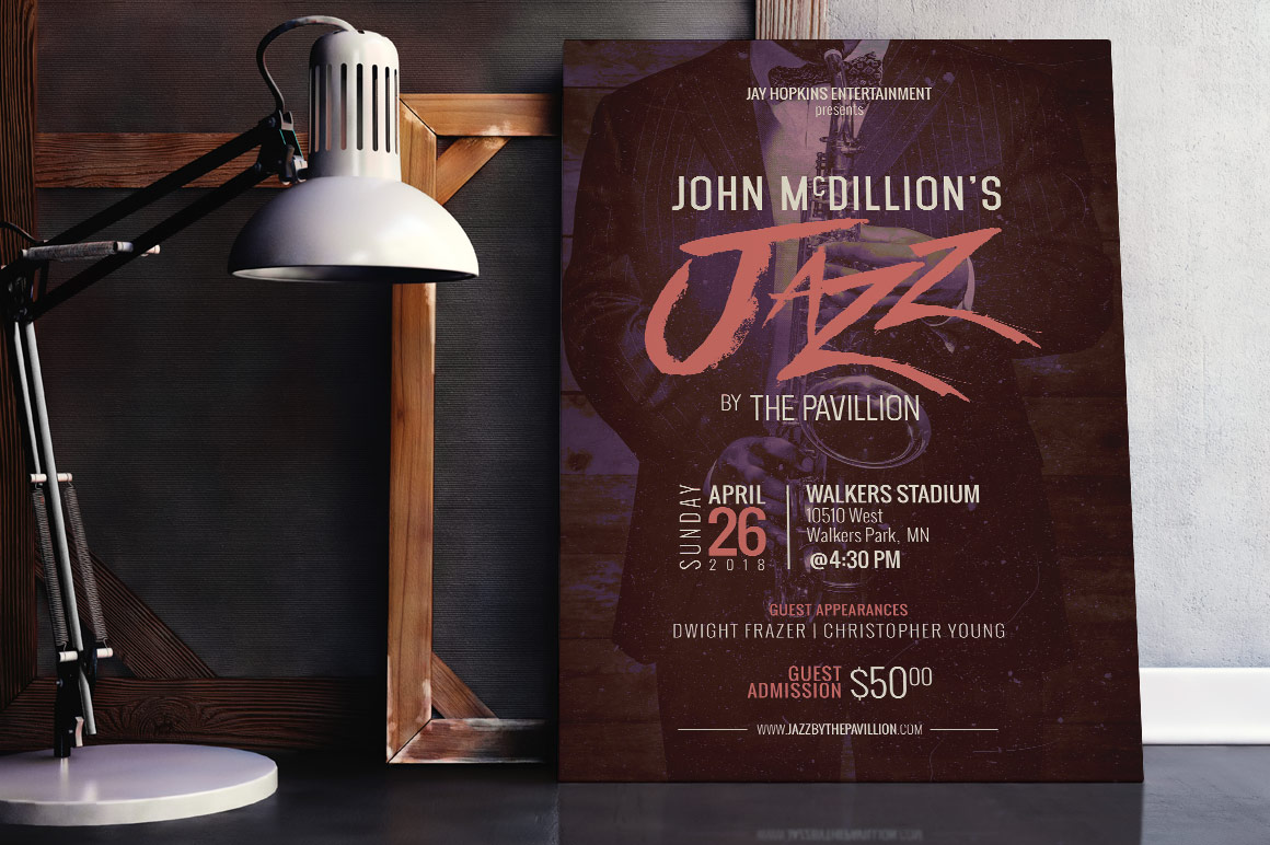 Jazz Concert Flyer Poster Template example image 8