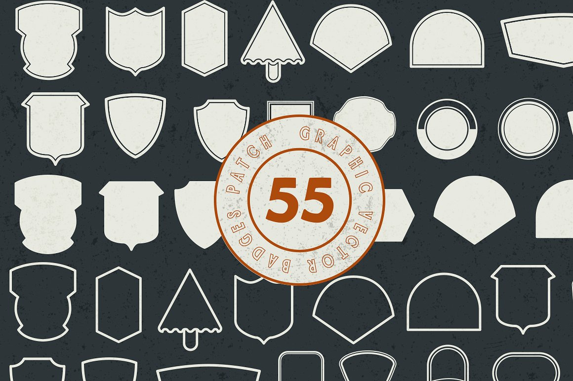 Harbour 5 Font Family & Extra Badges, illustration  example image 2
