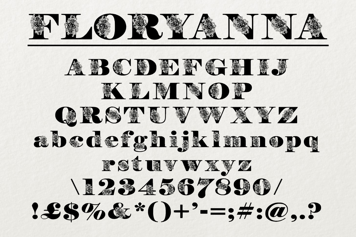 FloryAnna Font example image 2