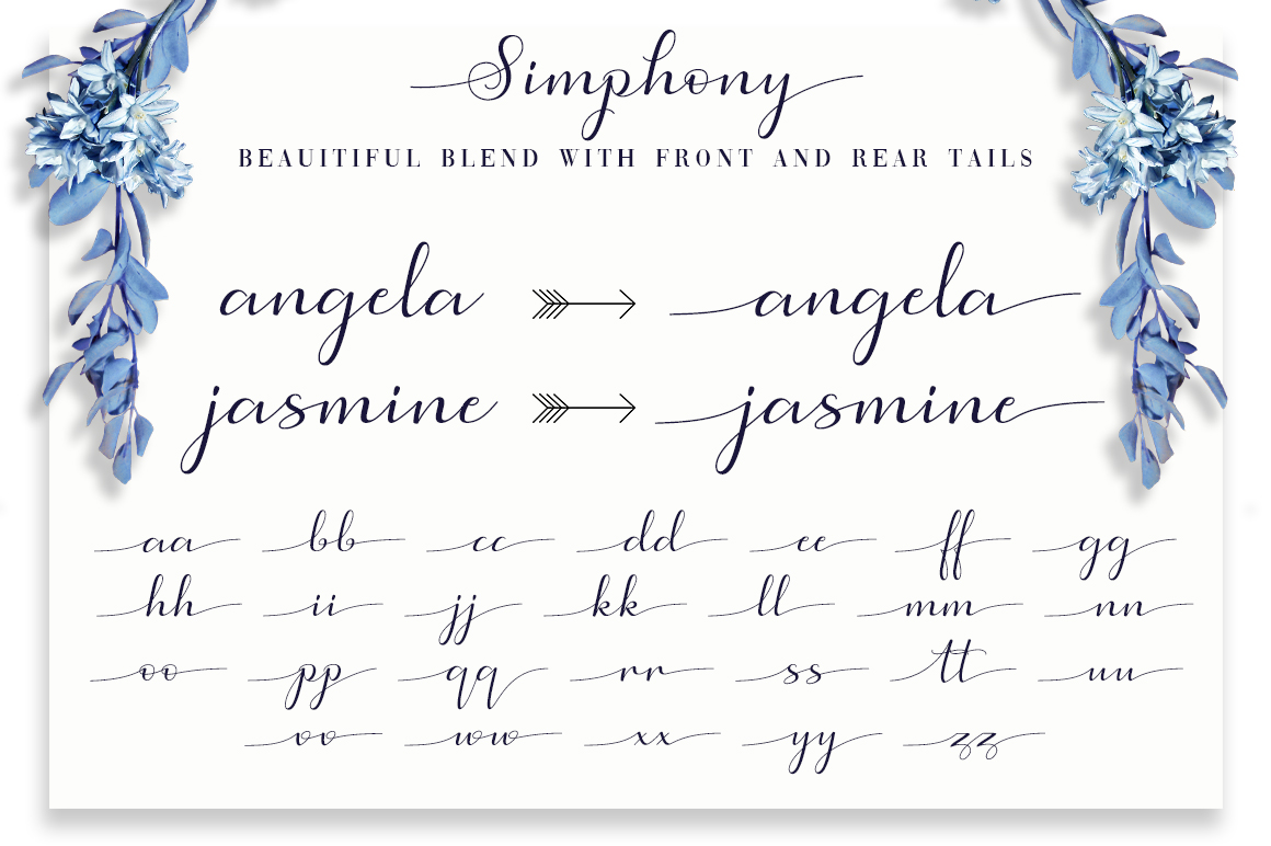 Simphony Caligraphy Font example image 8
