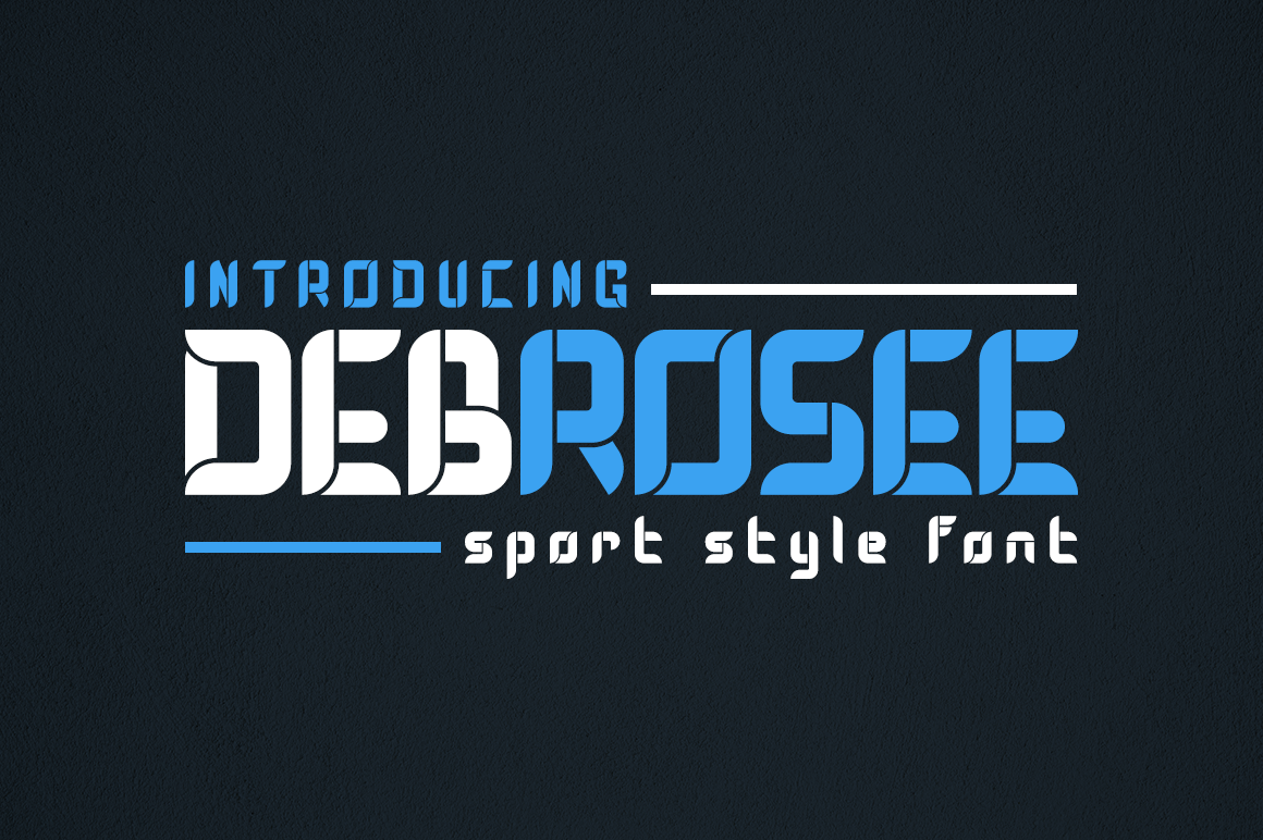 Debrosee - Sport Style Font example image 1