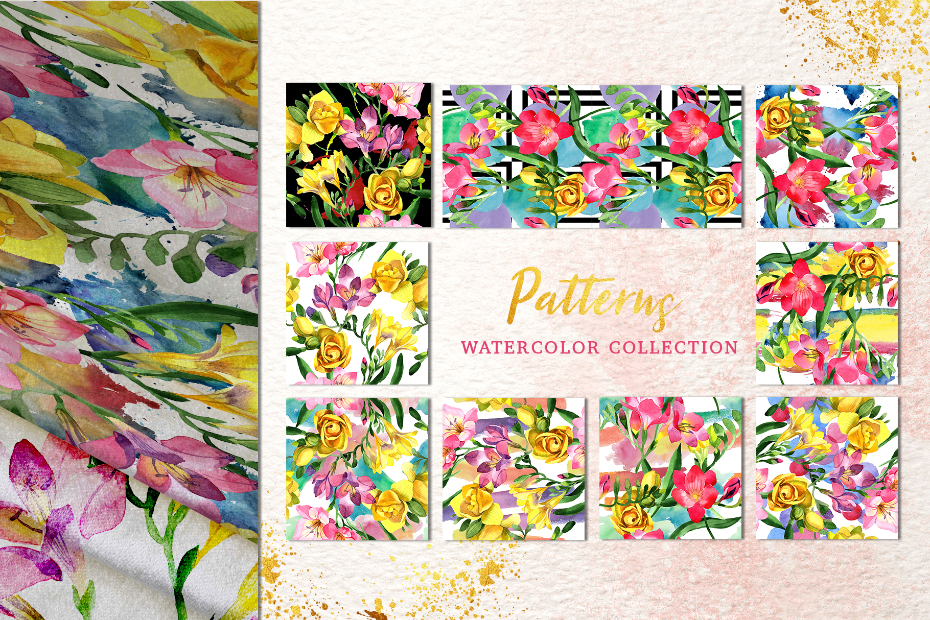 Floral Design collection watercolor png example image 4