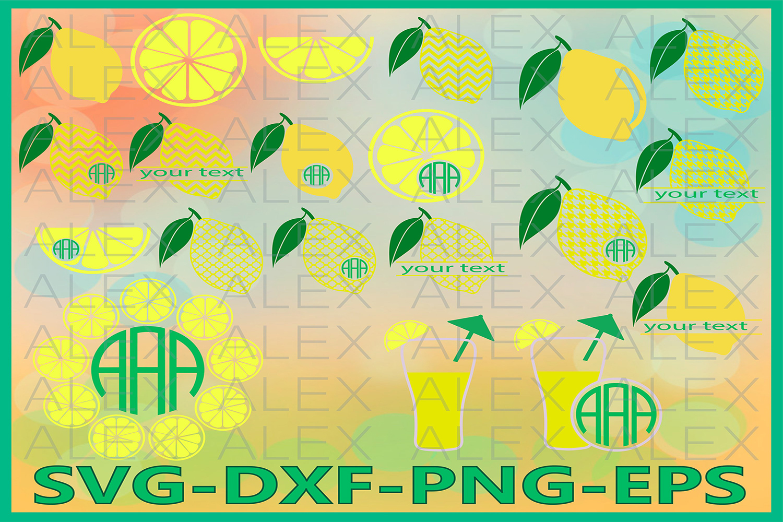 Lemon SVG, Lemon Monogram Svg, Lemon Svg Files example image 1