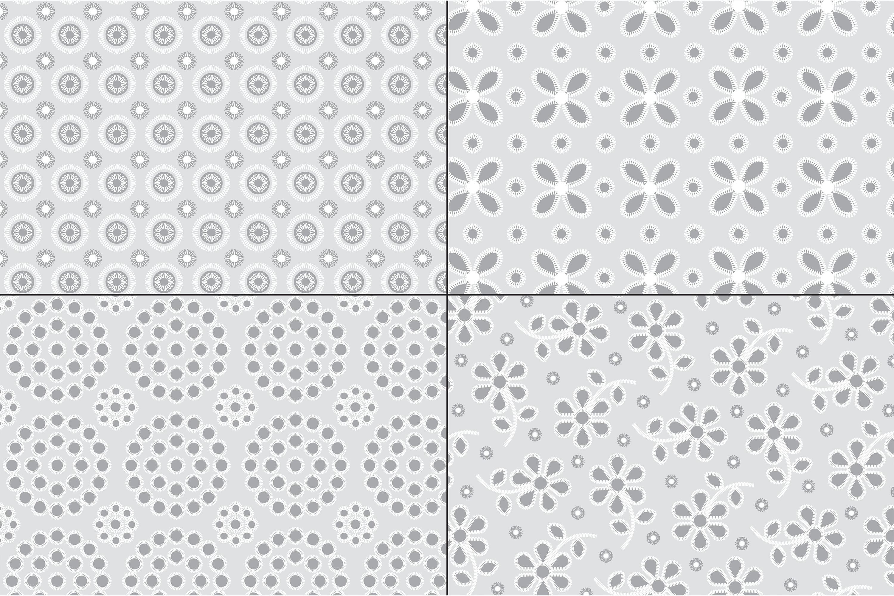 Gray Eyelet Embroidery Patterns example image 3