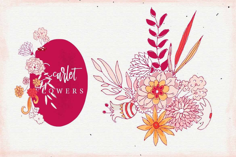 Scarlet Flowers example image 4