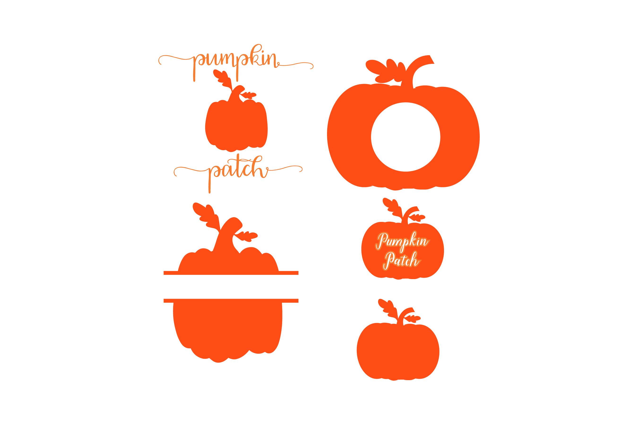 Pumpkin patch - Pumpkin Monogram 5 Designs SVG cut File example image 1