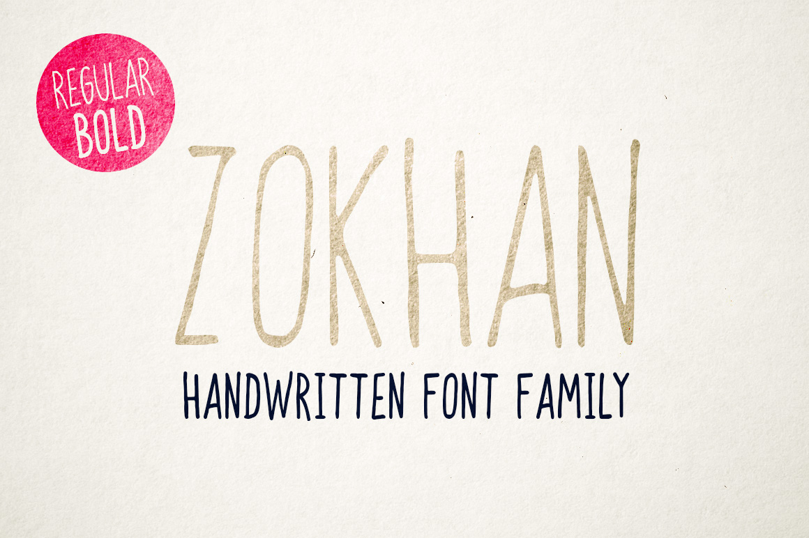 Zokhan - Font Family example image 1