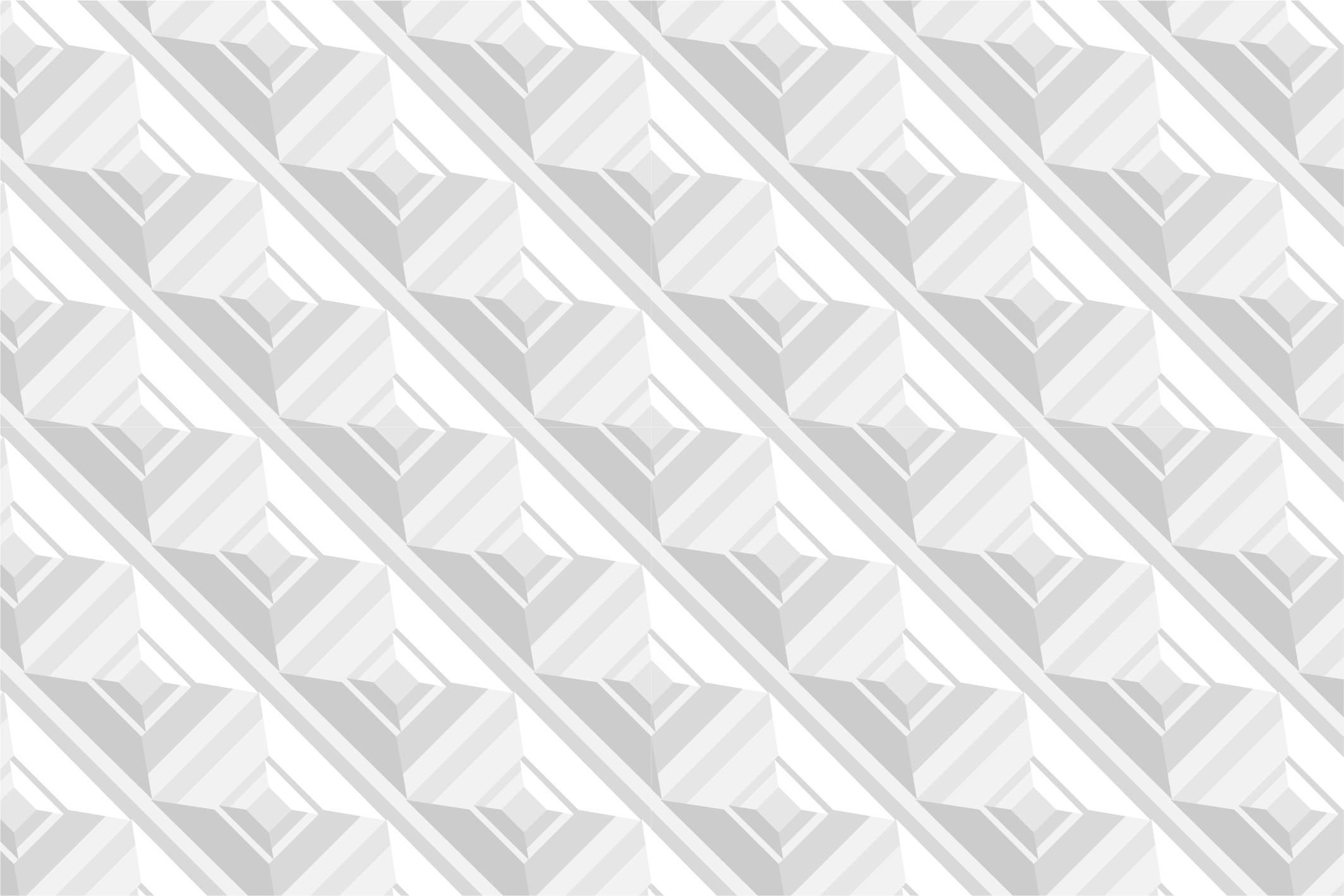 White geometric 3d seamless textures example image 11