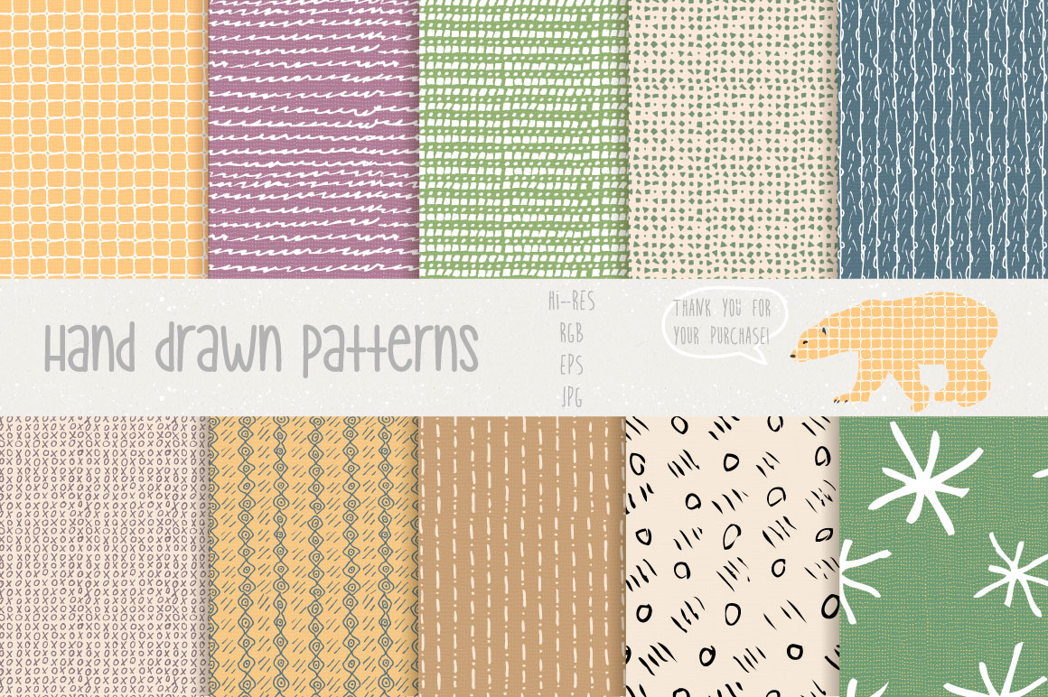 Hand Drawn Patterns #1 example image 3