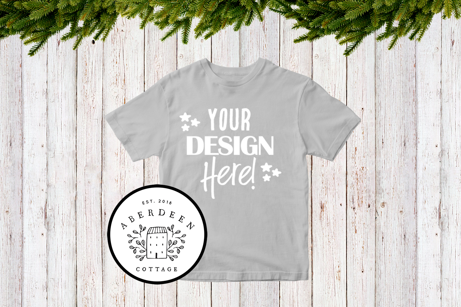 Children's Christmas T-Shirt Mock Up Mini Bundle example image 4