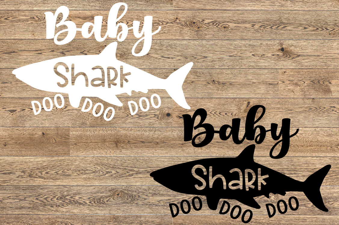 Baby Shark SVG Mother's Day Doo Best Family Birthday 1303s example image 2
