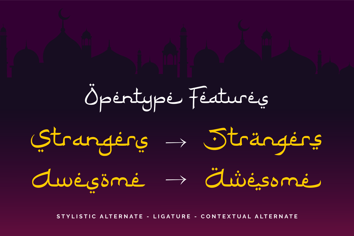 Ramadhan Karim - Arabic Fauxlang Font example image 3