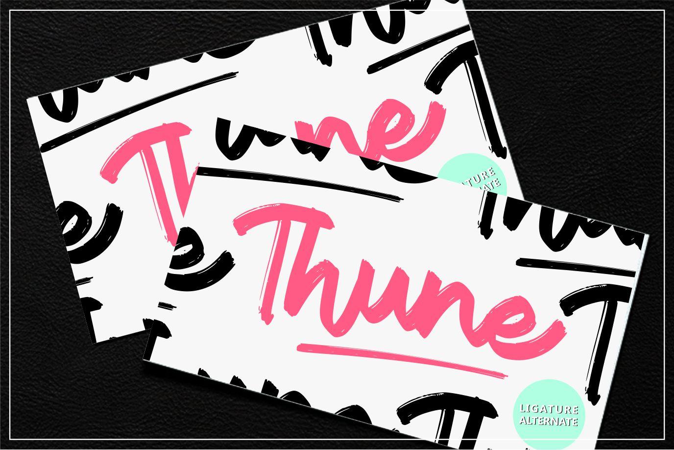 Thune | Bold Brush Font example image 5